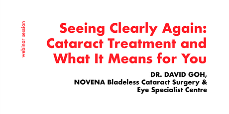 [FREE WEBINAR] Consult Opthalmologists for Cataract Treatment Methods ingressos