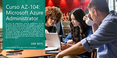 Curso AZ-104: Microsoft Azure Administrator tickets