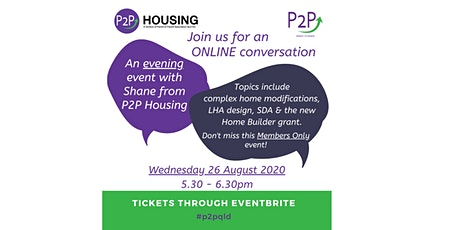 A Conversation with P2P - 26 August tickets