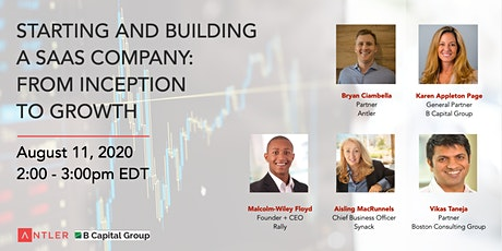 Starting and building a SaaS company - from inception to growth tickets