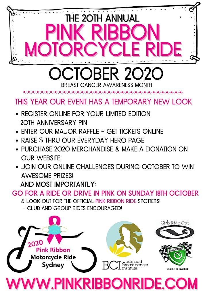 2020 Pink Ribbon Motorcycle Ride image