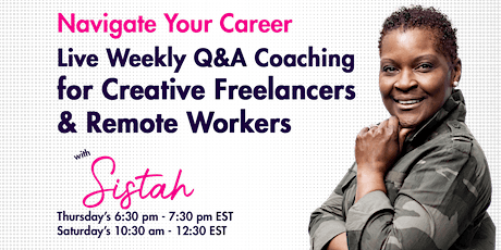 Weekly Q & A Coaching Calls for Creative Remote Workers tickets