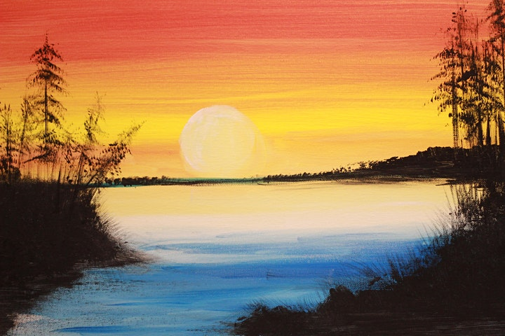 Chill & Paint Saturday Night  Auckland City  -  Golden Sunset image