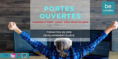BeCode - PORTES OUVERTES - 21 août 2020 @  Pôle image de Liège billets