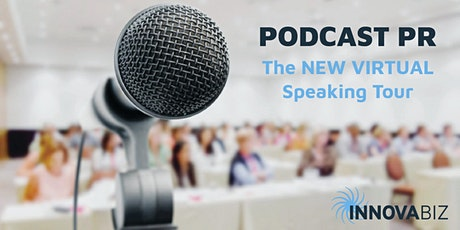 Podcast PR - the new virtual speaking tour tickets