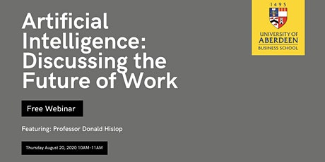 Artificial intelligence: Discussing the Future of Work tickets