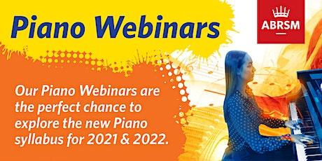 ABRSM Piano Webinars - Full Series of 8 Webinars tickets