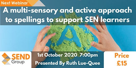 A multi-sensory and active approach to spellings to support SEN learners tickets