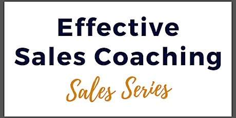 Effective Sales Coaching tickets