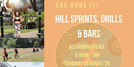 Women's Hill Sprints, Drills and Bar Training tickets