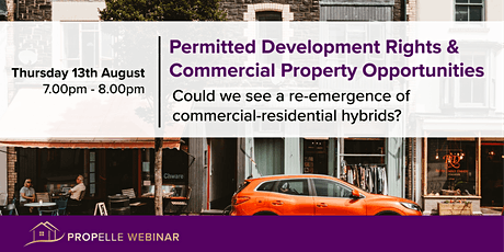PropElle Webinar   Permitted Development Rights & Commercial Property tickets