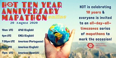 HOT 10 YEAR ANNIVERSARY GLOBAL MAPATHON EVENT tickets