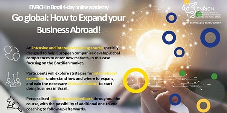 ENRICH BR: Go global - how to expand your business (4 day Online Academy) Tickets