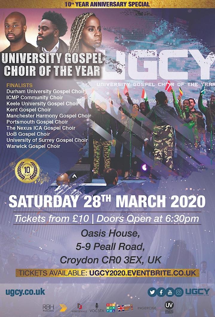University Gospel Choir of the Year (UGCY) 10 - (Postponed from 2020) image