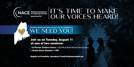 Make Our Voices Heard! The Maine Wedding and Events Industry Needs You! tickets
