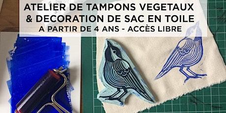 Atelier de tampons végétaux - dès 4 ans billets