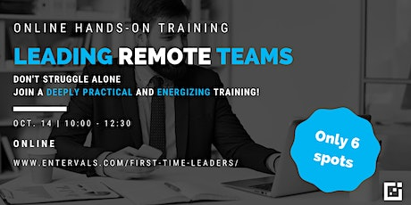 Leading Remote Teams  - Online Training tickets