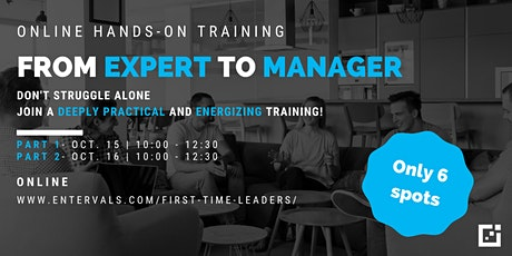 From Expert To Manager  - Online Training tickets