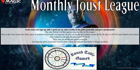 Magic August 2020 Joust League at Round Table Games tickets