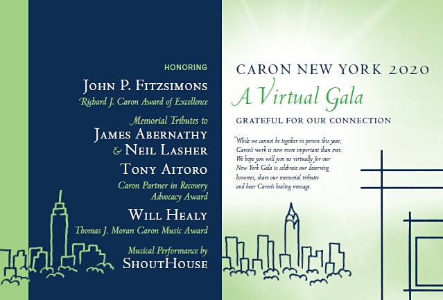 Caron Treatment Center's 2020 New York Virtual Gala