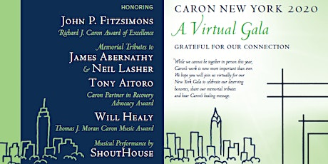Caron Treatment Center's 2020 New York Virtual Gala tickets