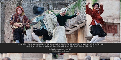 Darren Royston, dance consultant/director, creating dances for Shakespeare tickets