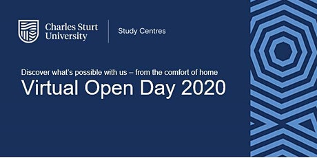 Virtual  Open Day   Charles Sturt Study Centres - Discover What's Possible tickets