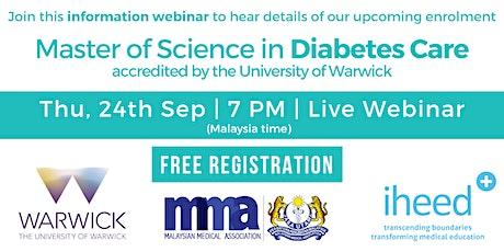 MSc Diabetes: University of Warwick - Info Webinar - MYS Sep 2020 tickets
