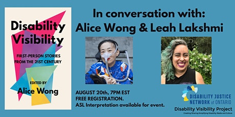 DJNO in Conversation with Alice Wong & Leah Lakshmi: Disability Visibility tickets