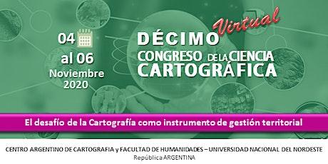 Décimo Congreso de la Ciencia Cartográfica entradas