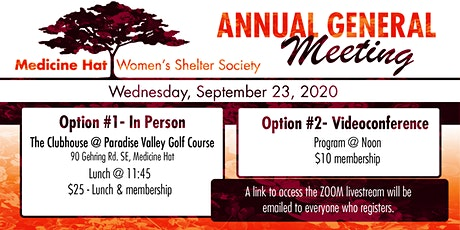 Medicine Hat Women's Shelter Society - Annual General Meeting tickets