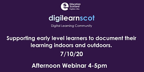 Supporting early level learners to digitally document their learning. tickets