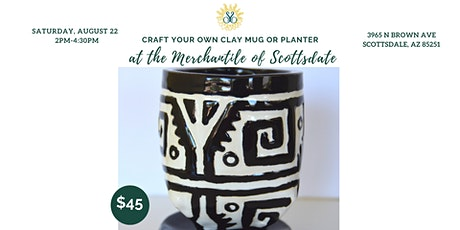 Craft Your Own Ceramic Mug or Planter at the Merch! tickets