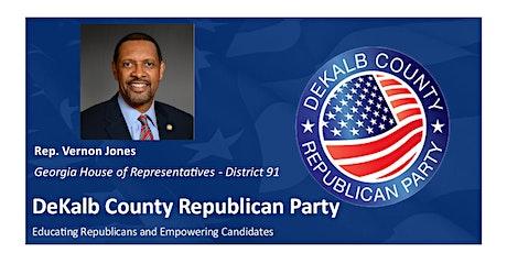 Join us on Sat. 8/15 for DeKalb GOP Breakfast with Rep. Vernon Jones! tickets