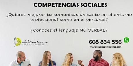 Competencias sociales - confirmación previa entradas