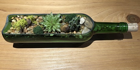 Wine Bottle w/Fairy Lights Succulent Workshop 8.26.20 tickets