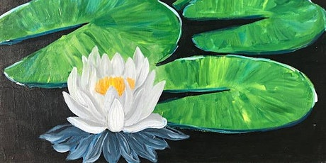 Best In-Person Paint and Sip Class 'White Water Lily' tickets