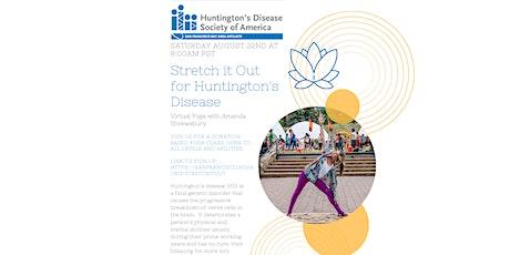 Virtual Donation-Based Yoga for Huntington's Disease Society of America tickets