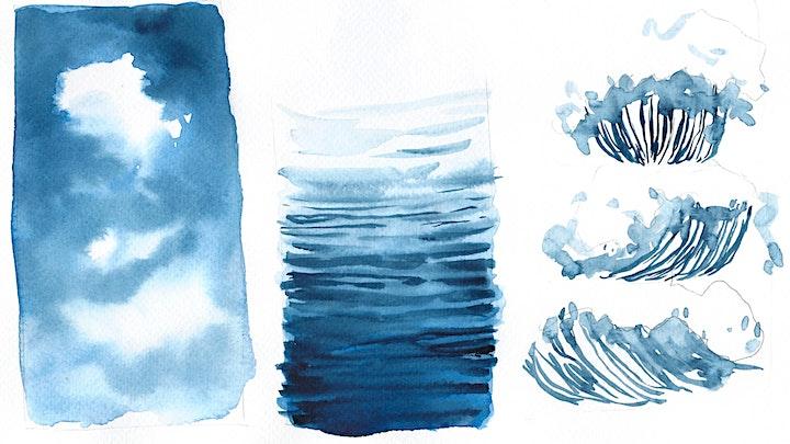 Aquarell Landschaften - Wolken und Wasser - ZOOM Live Onlinekurs: Bild