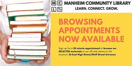 MCL Browsing Appointments - AUGUST 20 tickets