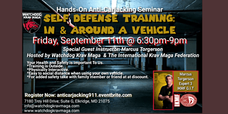Anti-Carjacking Seminar: Self Defense for In & Around a Vehicle tickets
