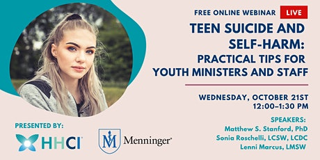 Teen Suicide and Self-Harm: Practical Tips for Youth Ministers and Staff tickets