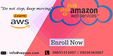 Aws certification training online @Vepsun Technologies tickets
