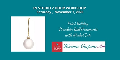 Learn to Paint  Holiday Porcelain Ball Ornaments with Alcohol Inks tickets