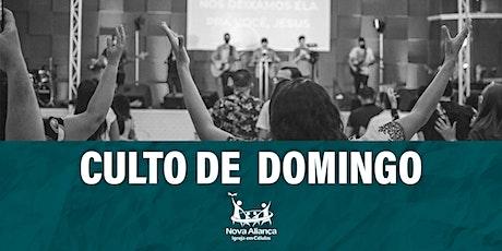 CULTO DOMINGO (09/08/2020) ingressos