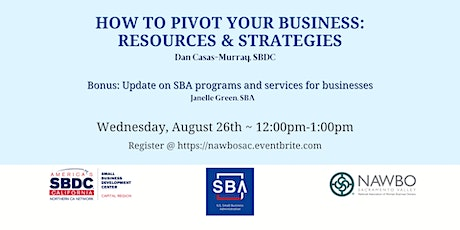 August Business Builder Series: How to Pivot your Business tickets