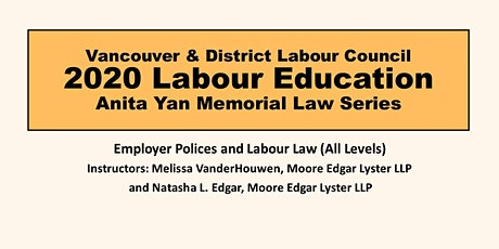 Employer Policies and Labour Law (All Levels) tickets