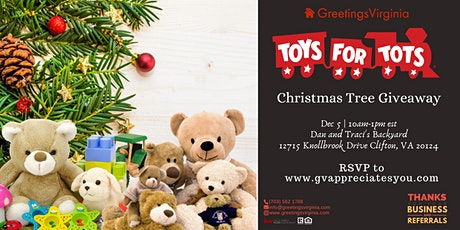 8th Annual Toys for Tots - Greetings Virginia Christmas Tree Giveaway tickets