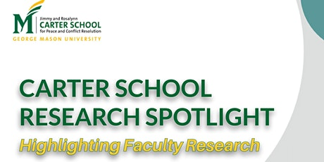 Carter School Research Spotlight & Sample Course Content tickets