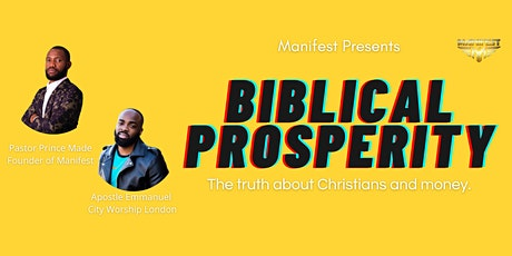 Biblical Prosperity: The truth about Christians and money tickets